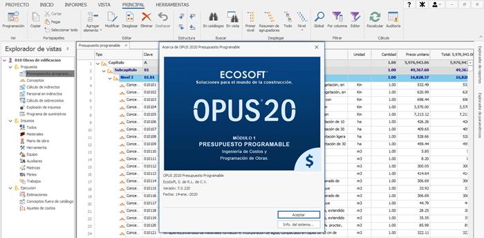 Curso de Opus 20 Software de Precios Unitarios